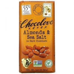 Chocolove, Almonds & Sea Salt in Dark Chocolate, 55% Cocoa, 3.2 oz (90 g) Pozostałe
