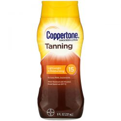 Coppertone, Tanning, Lightweight And Moisturizing, SPF 15, 8 fl oz (237 ml) Pozostałe