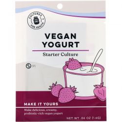 Cultures for Health, Vegan Yogurt, 4 Packets, .06 oz (1.6 g)