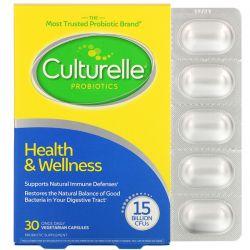 Culturelle, Probiotics, Health & Welness, 15 Billion CFUs, 30 Once Daily Vegetarian Capsules