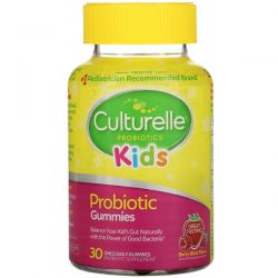 Culturelle, Kids, Probiotic Gummies, Berry Blast Flavor, 30 Once Daily Gummies