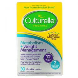 Culturelle, Probiotics, Metabolism + Weight Management, 12 Billion CFU, 30 Vegetarian Capsules
