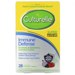 Culturelle, Probiotics, Immune Defense, Mixed Berry Flavor, 28 Chewable Tablets