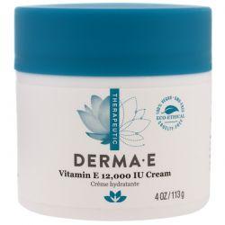 Derma E, Vitamin E 12,000 IU Creme, 4 oz (113 g) Zagraniczne