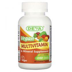 Deva, Vegan Multivitamin & Mineral Supplement, One Daily, 90 Coated Tablets Pozostałe
