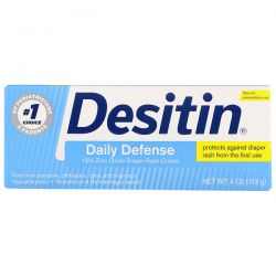 Desitin, Diaper Rash Cream, Daily Defense, 4 oz (113 g) Pozostałe