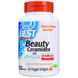 Doctor's Best, Beauty Ceramides with Ceramide-PCD, 60 Veggie Softgels Pozostałe