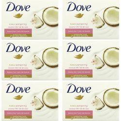 Dove, Purely Pampering Beauty Bar, Coconut Milk and Jasmine Petals, 6 Bars, 3.75 oz (106 g) Each Pozostałe