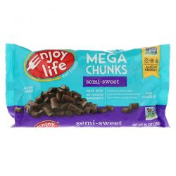 Enjoy Life Foods, Mega Chunks, Semi-Sweet Chocolate, 10 oz (283 g) Pozostałe