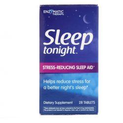 Enzymatic Therapy, Sleep Tonight, 28 Tablets Pozostałe