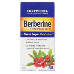 Enzymedica, Berberine, 60 Capsules Pozostałe
