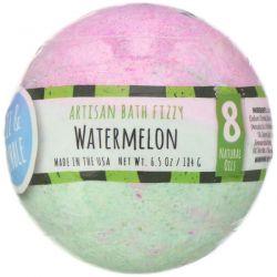 Fizz & Bubble, Artisan Bath Fizzy, Watermelon, 6.5 oz (184 g) Pozostałe