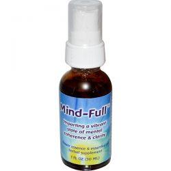 Flower Essence Services, Mind-Full, Flower Essence & Essential Oil, 1 fl oz (30ml) Pozostałe