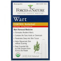Forces of Nature, Wart Control, Rollerball, Extra Strength, 0.14 oz (4 ml) Pozostałe
