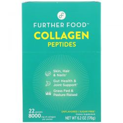 Further Food, Collagen Peptides, Unflavored, 22 Packs, 0.28 oz (8 g) Each Zdrowie i Uroda