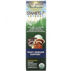 Fungi Perfecti, Stamets 7 Extract, Daily Immune Support, 1 fl oz (30 ml) Zdrowie i Uroda