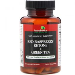 FutureBiotics, Red Raspberry Ketone + Green Tea, 60 Vegetarian Capsules Zagraniczne