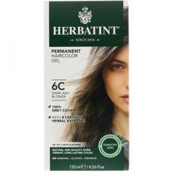 Herbatint, Permanent Haircolor Gel, 6C, Dark Ash Blonde, 4.56 fl oz (135 ml) Pozostałe