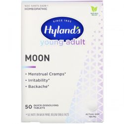 Hyland's, Young Adult, Moon, 194 mg, 50 Quick-Dissolving Tablets Pozostałe