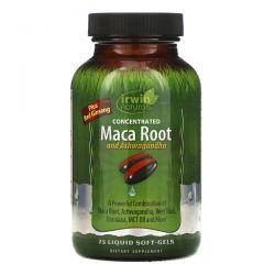 Irwin Naturals, Concentrated Maca Root and Ashwagandha, 75 Liquid Soft-Gels