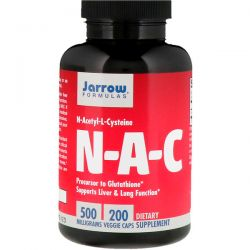 Jarrow Formulas, N-A-C N-Acetyl-L-Cysteine, 500 mg, 200  Veggie Caps Pozostałe