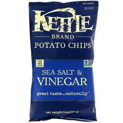 Kettle Foods, Potato Chips, Sea Salt & Vinegar, 5 oz (142 g) Pozostałe