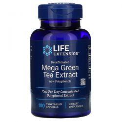 Life Extension, Mega Green Tea Extract, Decaffeinated, 100 Vegetarian Capsules
