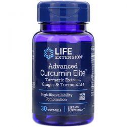 Life Extension, Advanced Curcumin Elite, Turmeric Extract, Ginger & Turmerones, 30 Softgels