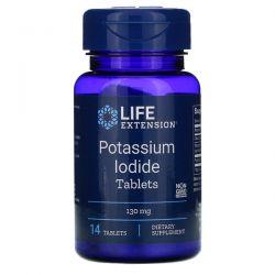 Life Extension, Potassium Iodide Tablets, 130 mg, 14 Tablets Pozostałe
