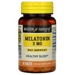 Mason Natural, Melatonin, 3 mg, 60 Tablets Pozostałe