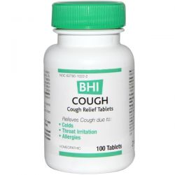 MediNatura, BHI, Cough, 100 Tablets Pozostałe