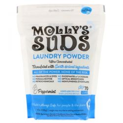 Molly's Suds, Laundry Powder, Ultra Concentrated, Peppermint, 70 Loads,  47 oz (1.33 kg) Pozostałe