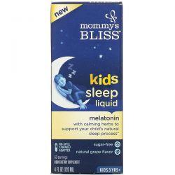 Mommy's Bliss, Kids Sleep Liquid, Melatonin, Kids 3 Yrs +, Natural Grape, 4 fl oz (120 ml) Pozostałe