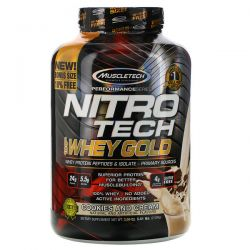 Muscletech, Nitro Tech, 100% Whey Gold, Cookies and Cream, 5.51 lbs (2.50 kg) Pozostałe