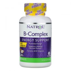 Natrol, B-Complex, Fast Dissolve, Coconut Natural Flavor, 90 Tablets Pozostałe