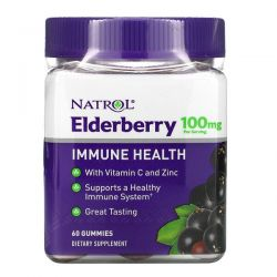 Natrol, Elderberry Immune Health, 100 mg, 60 Gummies Pozostałe