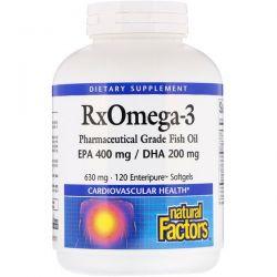 Natural Factors, Rx Omega-3, 120 Enteripure Softgels Pozostałe