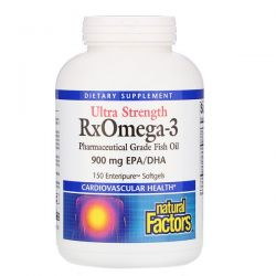 Natural Factors, Ultra Strength RxOmega-3, 900 mg EPA/DHA, 150 Enteripure Softgels Zagraniczne