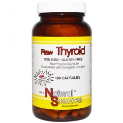Natural Sources, Raw Thyroid, 180 Capsules Pozostałe