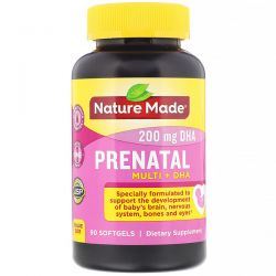 Nature Made, Prenatal Multi + DHA, 90 Softgels Pozostałe