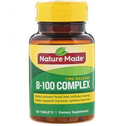 Nature Made, B-100 Complex, Time Release, 60 Tablets Pozostałe
