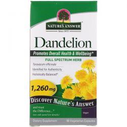 Nature's Answer, Dandelion, 1,260 mg, 90 Vegetarian Capsules Pozostałe