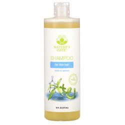 Nature's Gate, Biotin & Bamboo Shampoo for Thin Hair, 16 fl oz (473 ml) Zagraniczne
