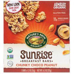Nature's Path, Organic, Sunrise Breakfast Bars, Chunky Choco Peanut, 5 Bars, 1.2 oz (35 g) Each Pozostałe