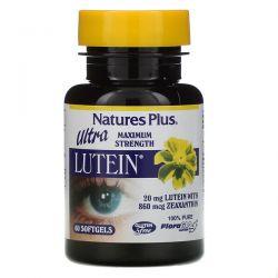 Nature's Plus, Ultra Lutein, Maximum Strength, 20 mg, 60 Softgels