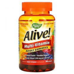 Nature's Way, Alive! Multi-Vitamin, Adult Gummies, Fruit Flavors, 90 Gummies Pozostałe