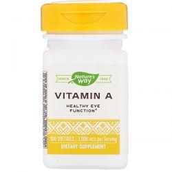 Nature's Way, Vitamin A, 3,000 mcg, 100 Softgels Pozostałe