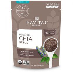 Navitas Organics, Organic Chia Seeds, 16 oz (454 g) Pozostałe