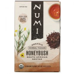 Numi Tea, Organic Herbal Teasan, Honeybush, Caffeine Free, 18 Tea Bags, 1.52 oz (43.2 g) Pozostałe