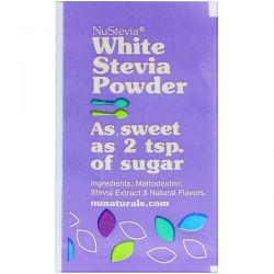 NuNaturals, NuStevia, White Stevia Powder, 1000 Packets, 2.23 lbs (1000 g) Pozostałe